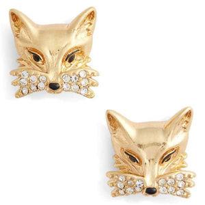 KATE SPADE So Foxy Fox Stud Earrings